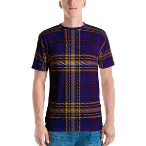 Plaid Christmas Purple Men's T-shirt - Joy Holiday Fashion