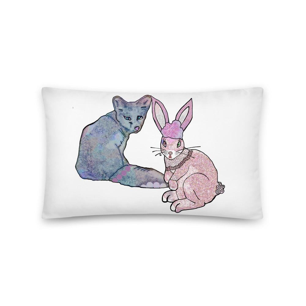 Bunny & Fox Basic Pillow