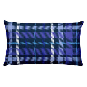 Blue Plaid Christmas Premium Pillow - Joy Holiday Fashion