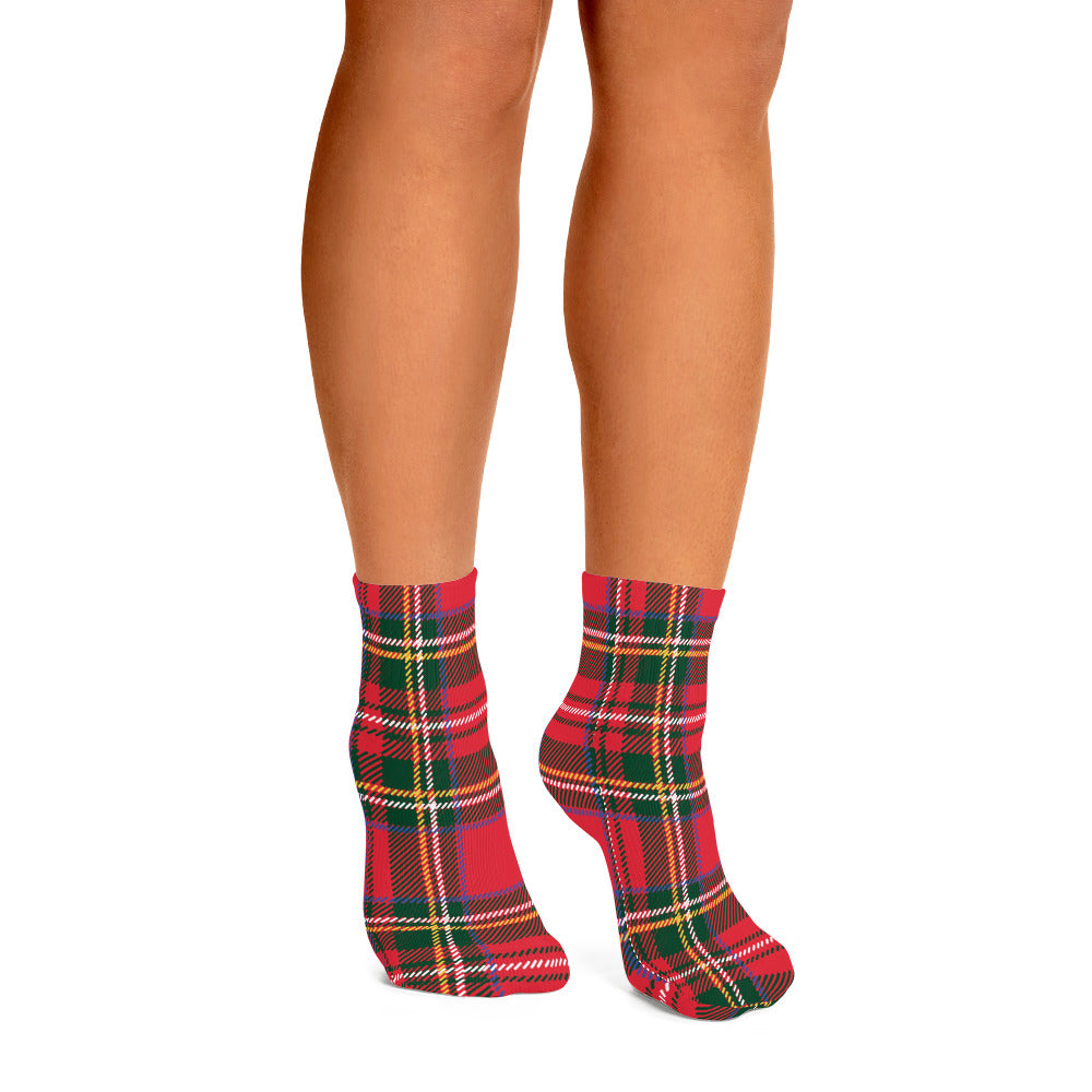 Bruce Plaid Ankle Socks - Joy Holiday Fashion