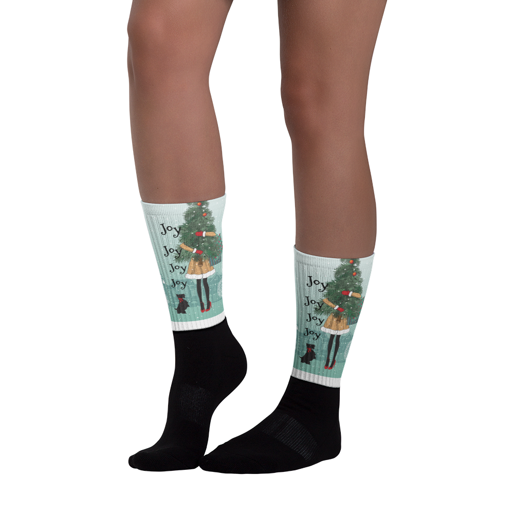 Joy Joy Joy Happy Feet - Socks - Joy Holiday Fashion