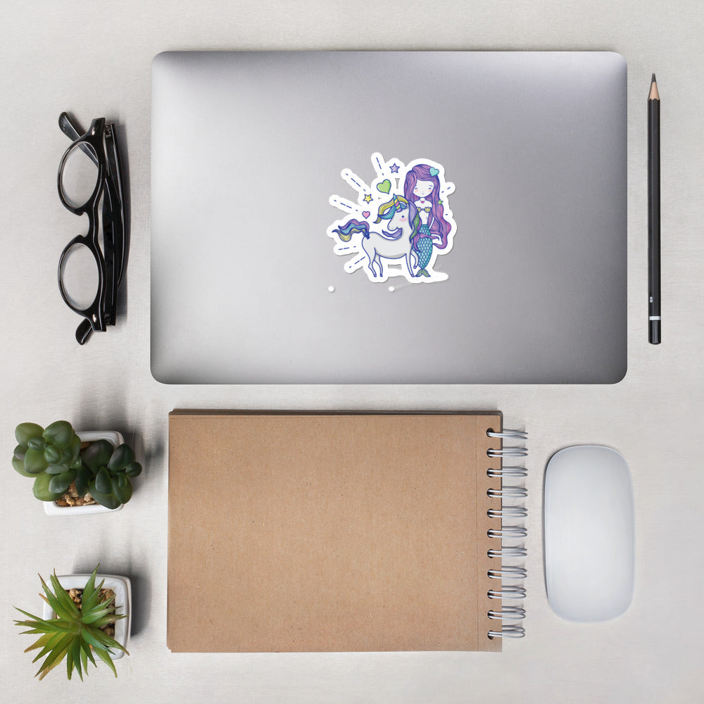 Mermaid and Unicorn Bubble-free stickers
