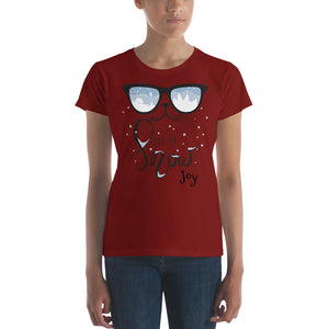 Let it Snow Women's short sleeve t-shirt - Joy Holiday Fashion