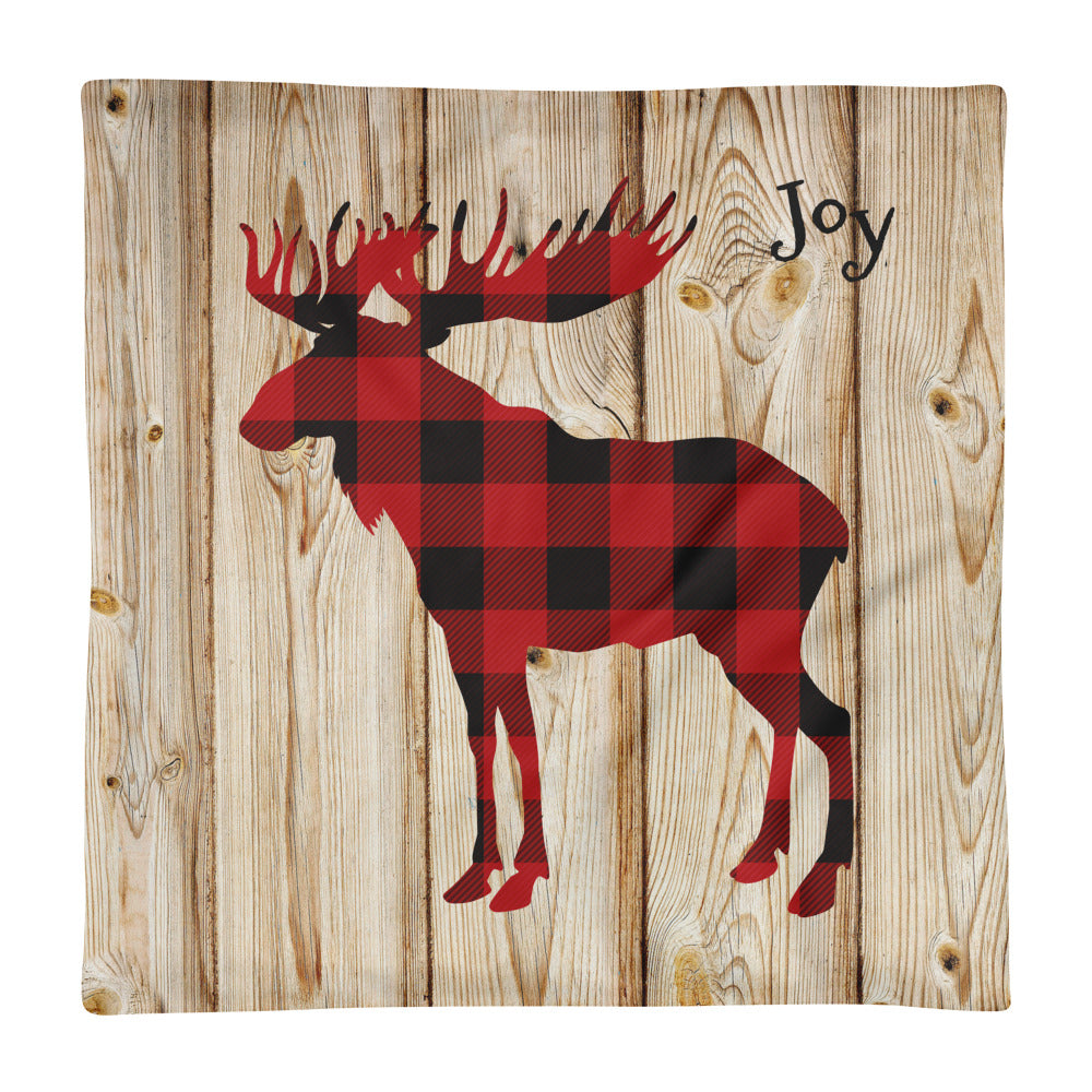 Plaid Lumberjack Elk Pillow Case - Joy Holiday Fashion