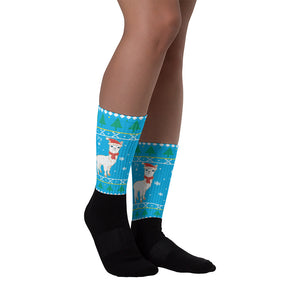 Cool Blue Llama Socks - Joy Holiday Fashion