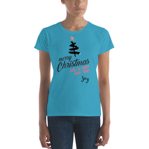 Merry Christmas Women's short sleeve t-shirt - Joy Holiday Fashion