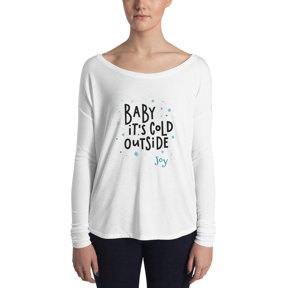 Baby It's Cold Outside Women's Long Sleeve T-Shirt - Joy Holiday Fashion