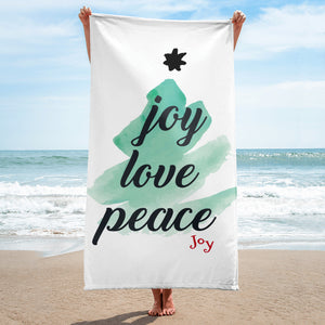 Joy Love Peace Towel