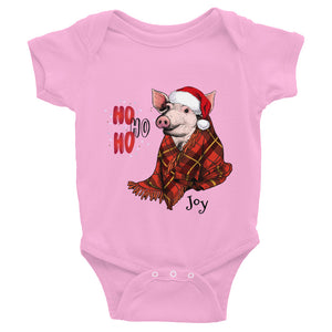 Plaid Pig Infant Bodysuit - Joy Holiday Fashion