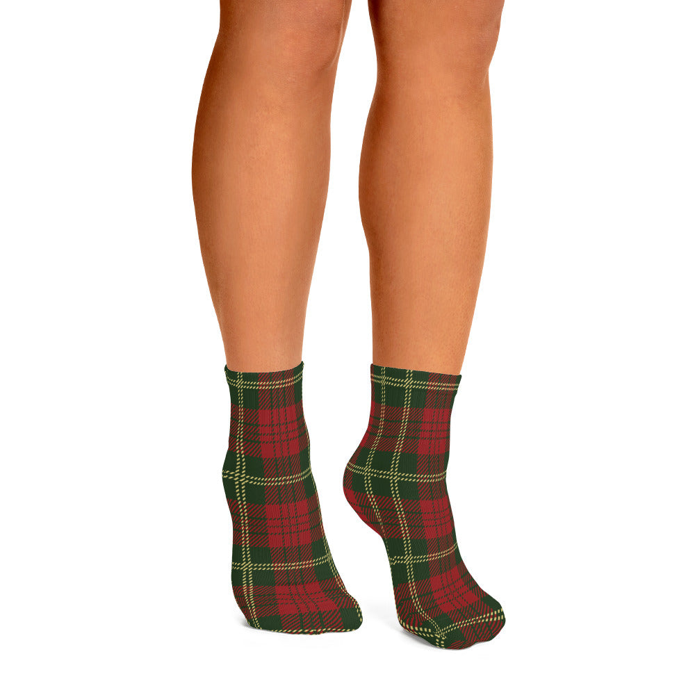 Tartan Plaid Ankle Socks