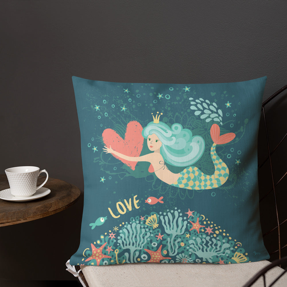 Valentine's Mermaid Love Pillow