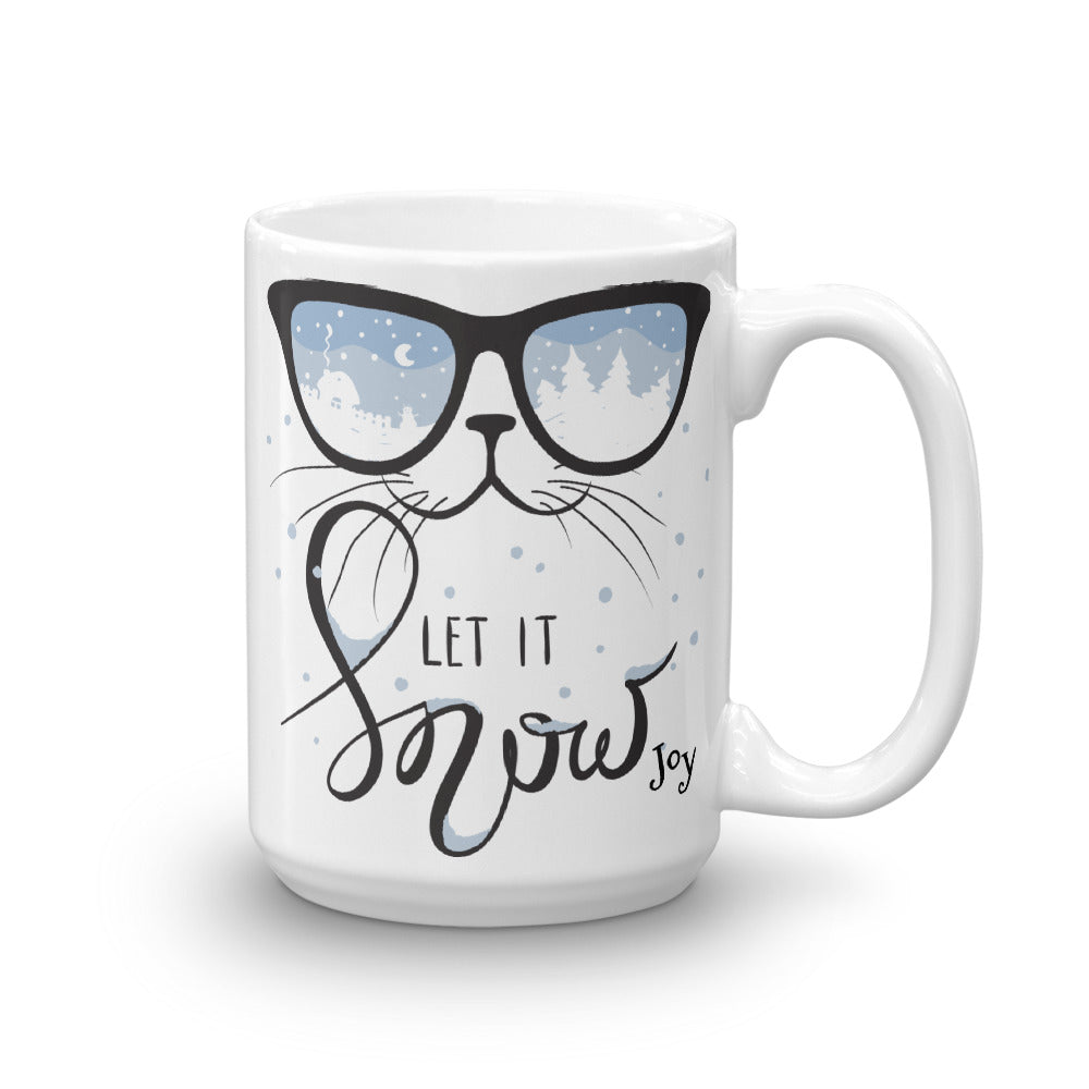 Cool Cat Let it Snow Mug - Joy Holiday Fashion