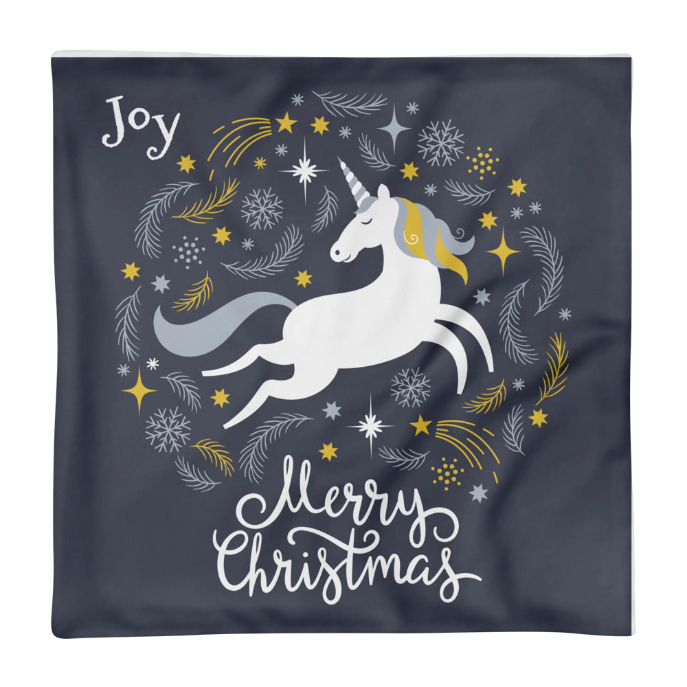 Joy with Unicorns Basic Pillow Case - Joy Holiday Fashion