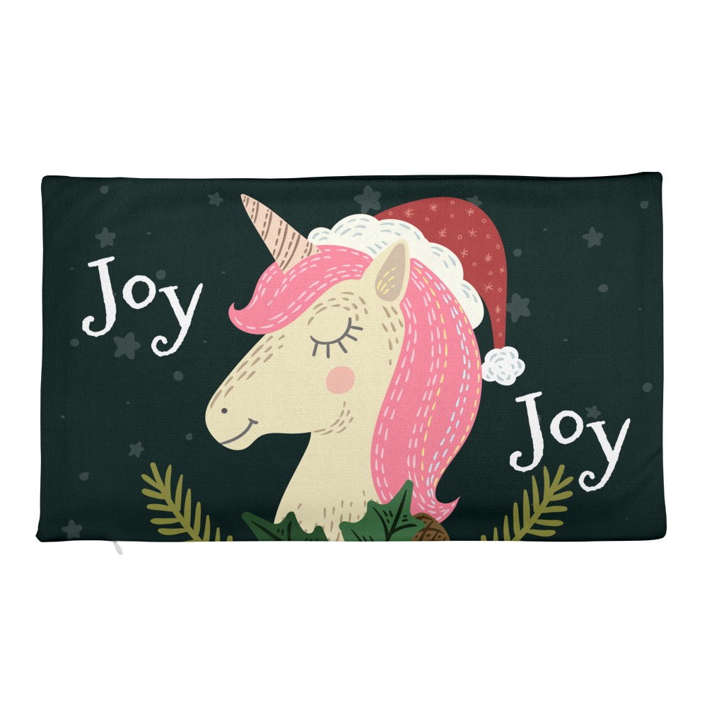 A Unicorn Christmas Pillow Case - Joy Holiday Fashion