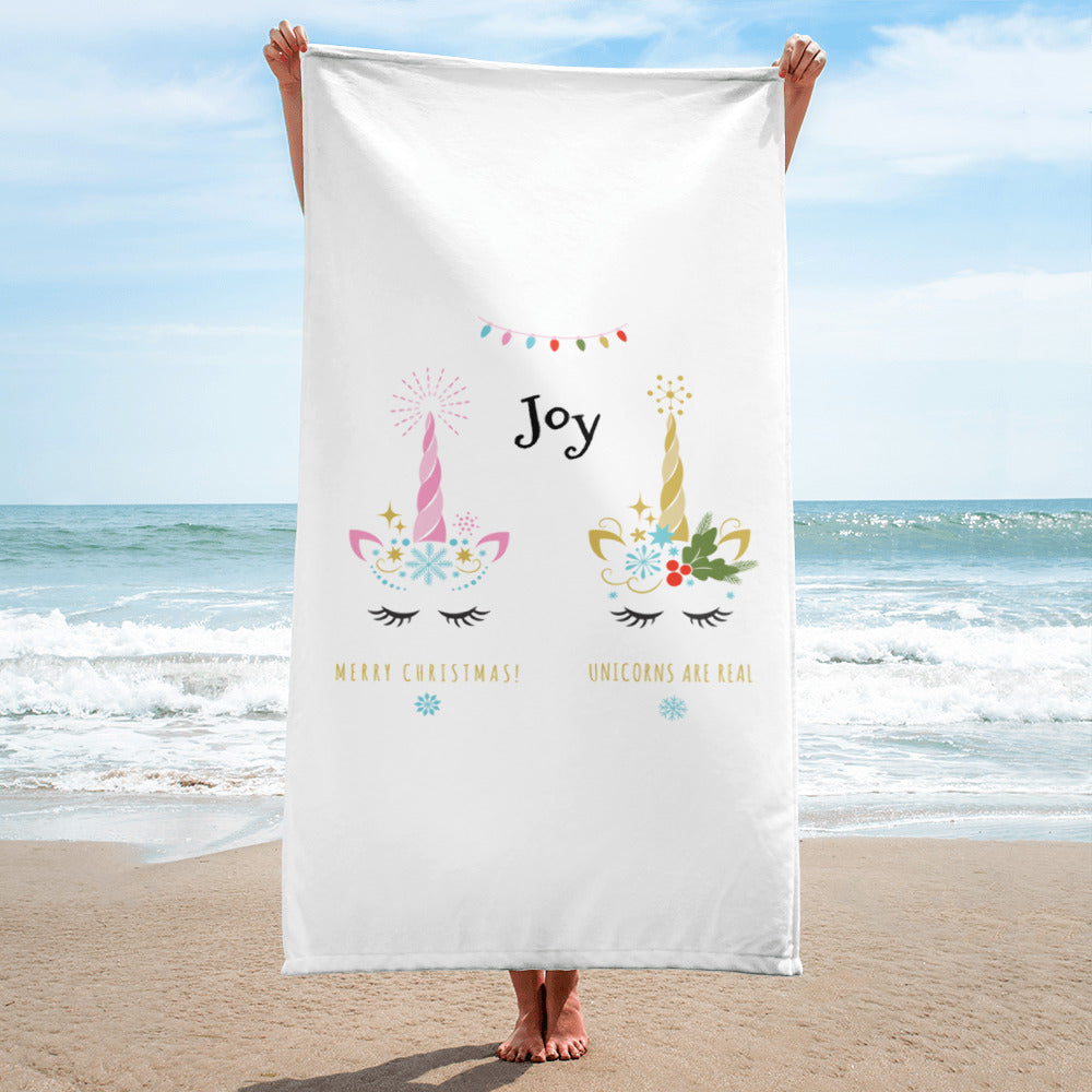 Unicorn Christmas Towel