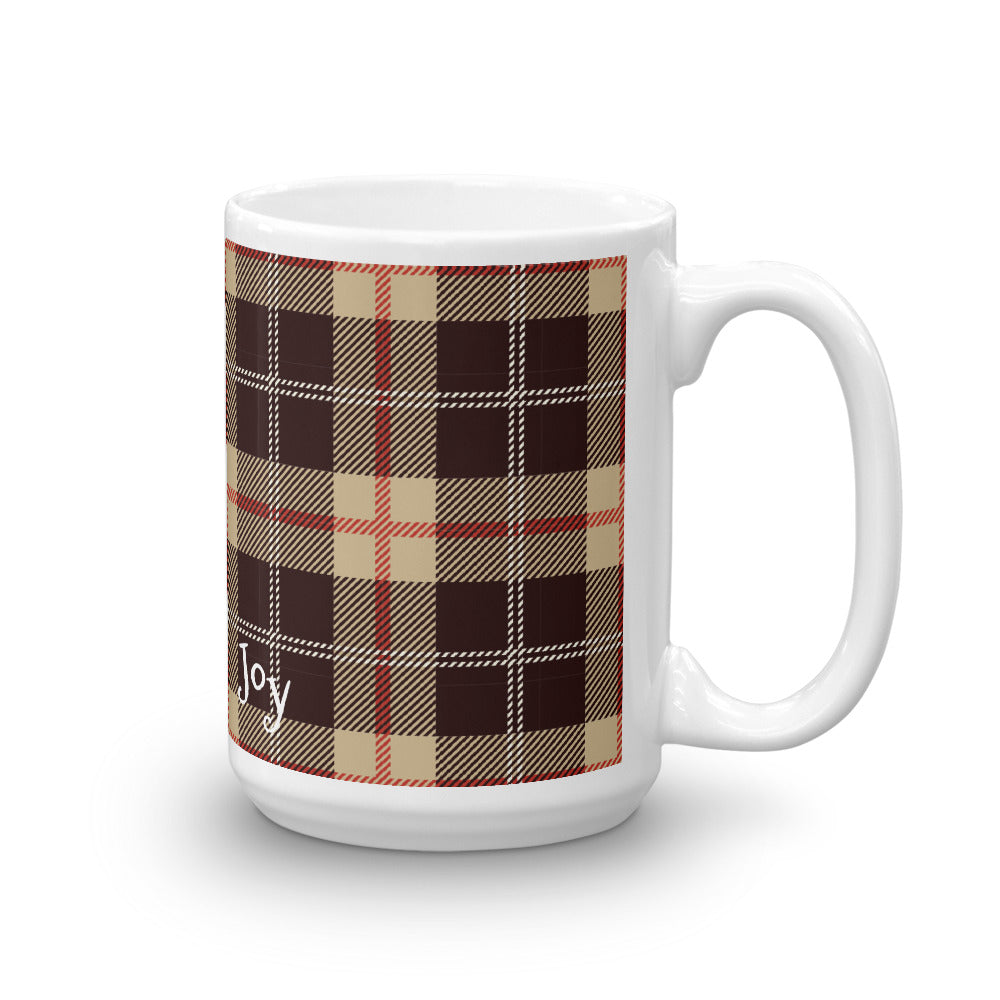 Plaid Brownie Mug - Joy Holiday Fashion