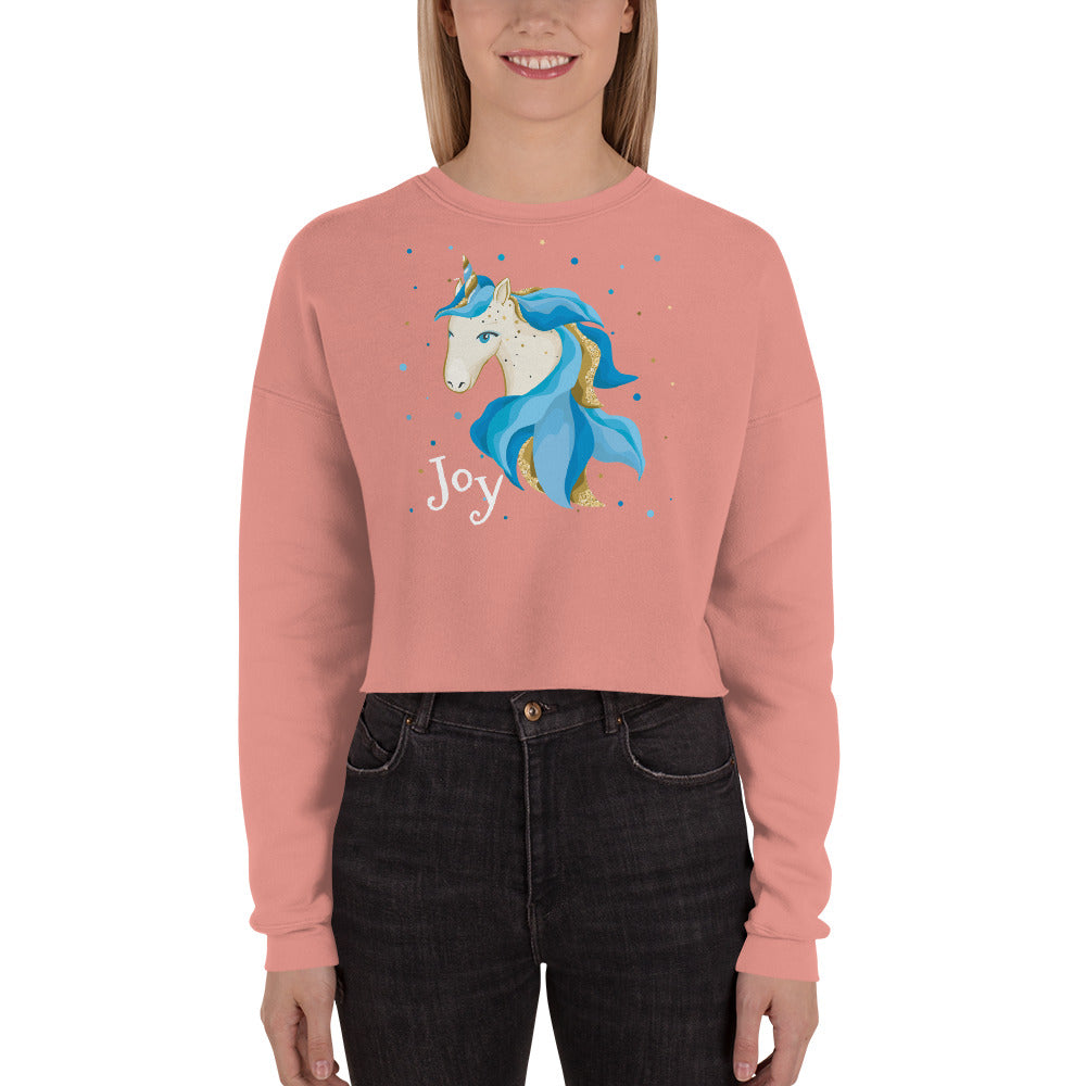Joyful Crop Sweatshirt - Joy Holiday Fashion