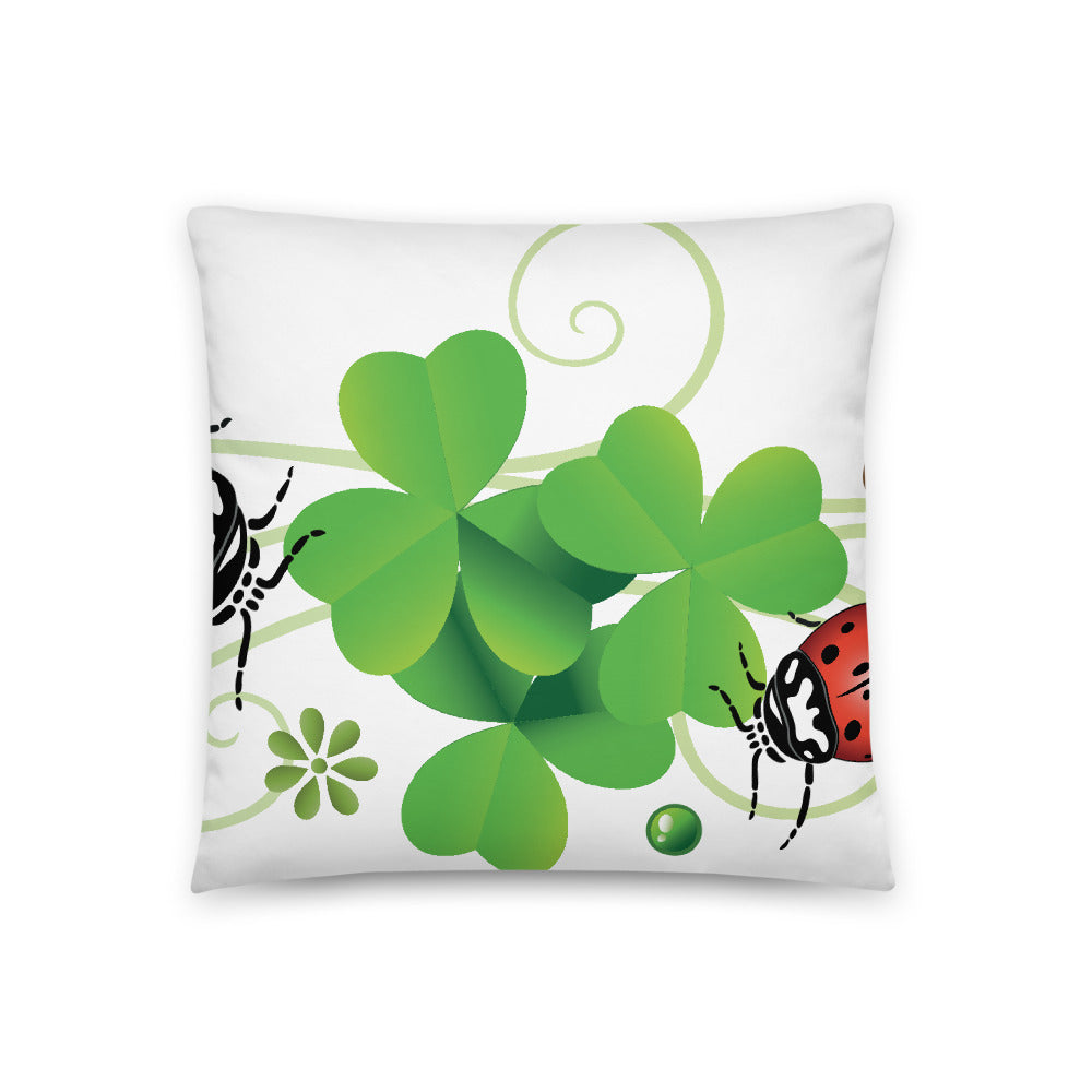 Lucky Lady Bug Basic Pillow