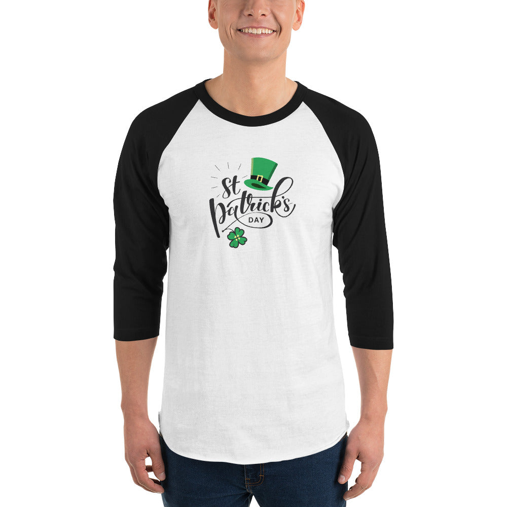 St. Patrick's Day 3/4 sleeve raglan shirt