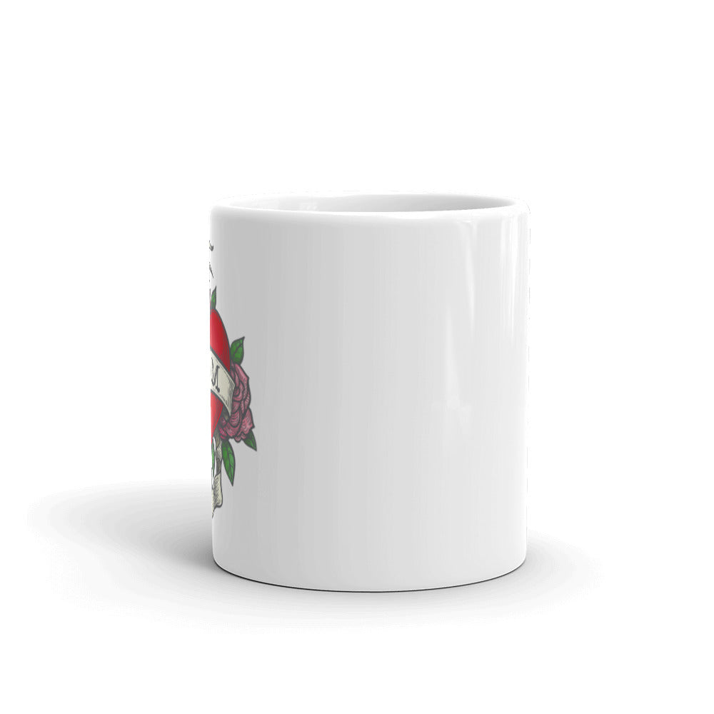 I Heart Mom White Glossy Mug