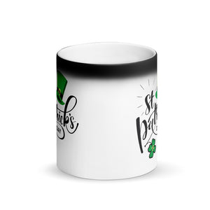 St. Patrick's Day Matte Black Magic Mug