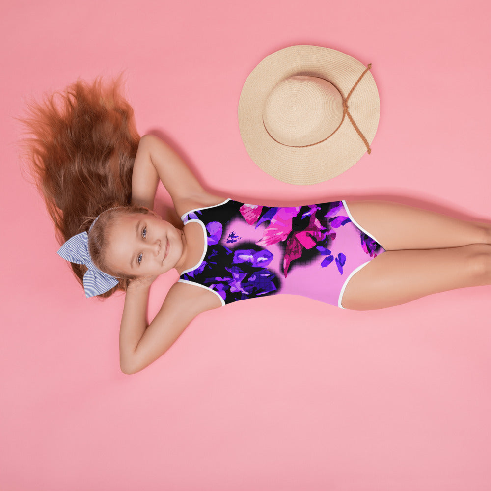 Pink Spring All-Over Print Kids Swimsuit