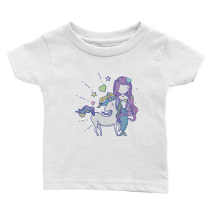 Mermaid & Unicorn Love Infant Tee