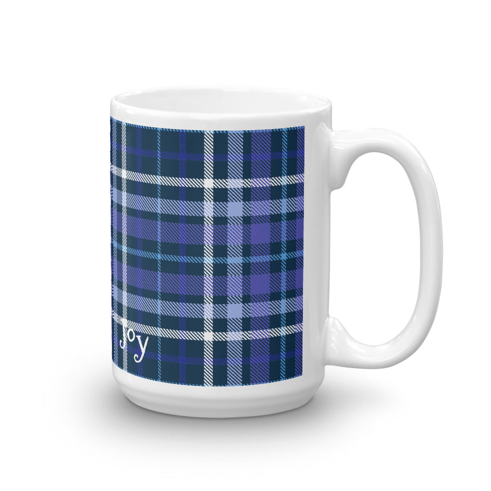 Plaid Blue Mug - Joy Holiday Fashion