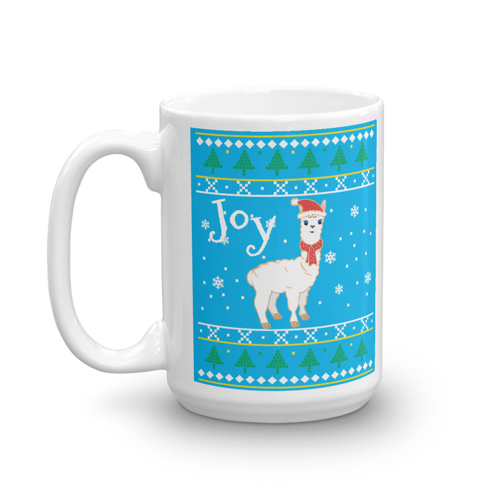 Cool Blue Llama Sweater Mug - Joy Holiday Fashion
