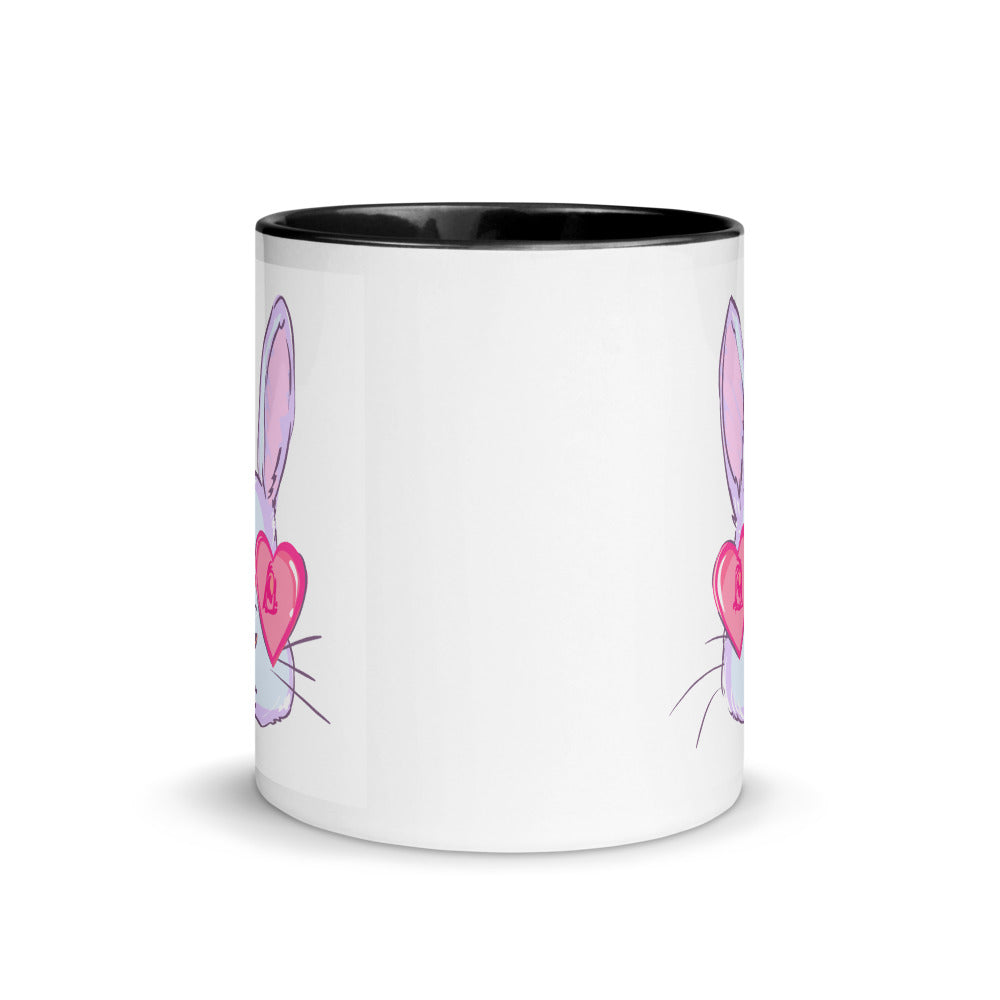 Bunny Love Mug with Color Inside