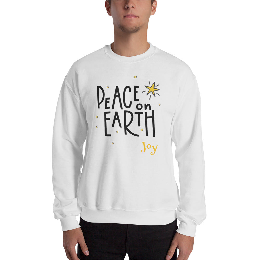 Peace On Earth Sweatshirt - Joy Holiday Fashion