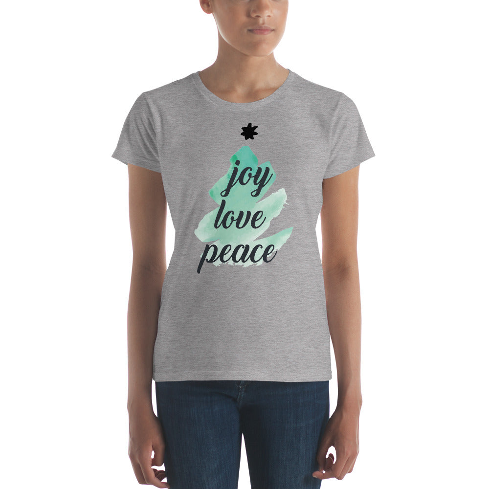 Joy Peace Women's short sleeve t-shirt - Joy Holiday Fashion