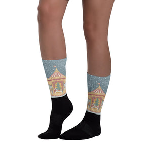 Carousel Holiday Socks - Joy Holiday Fashion