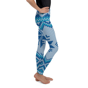 Snowflake Sweater Youth Leggings - Joy Holiday Fashion