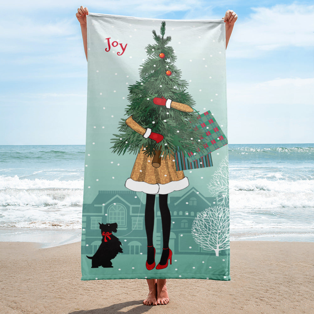 Happy Christmas Feet Towel