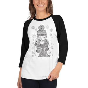Warm Cup Of Joy 3/4 sleeve raglan shirt