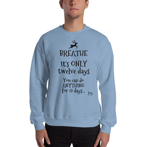 Breathe - Only 12 days Sweatshirt - Joy Holiday Fashion