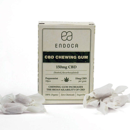 Endoca Hemp CBD Chewing Gum 10 count (15mg CBD each)