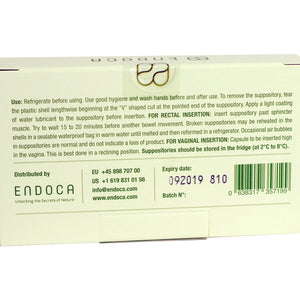 Endoca Hemp Extract CBD Suppository Label