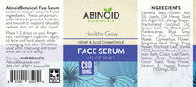 Load image into Gallery viewer, Abinoid Botanicals CBD Oil Face Serum Label
