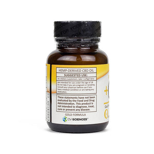 PlusCBD Gold Formula Softgel Supplement Facts