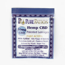Load image into Gallery viewer, PureRatios Hemp CBD Lozenges Front