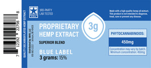 Decarboxylated Hemp Extract Blue Label