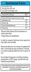 Blue Label Nutritional Facts