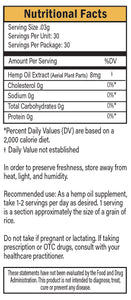 Gold Label Nutrition Facts