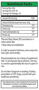 Green Label Nutritional Facts