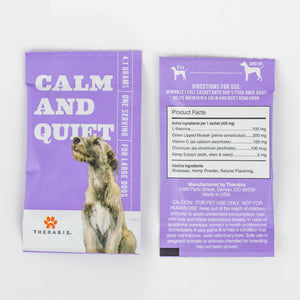 Therabis Hemp Oil for Dogs - Calm and Quiet Label