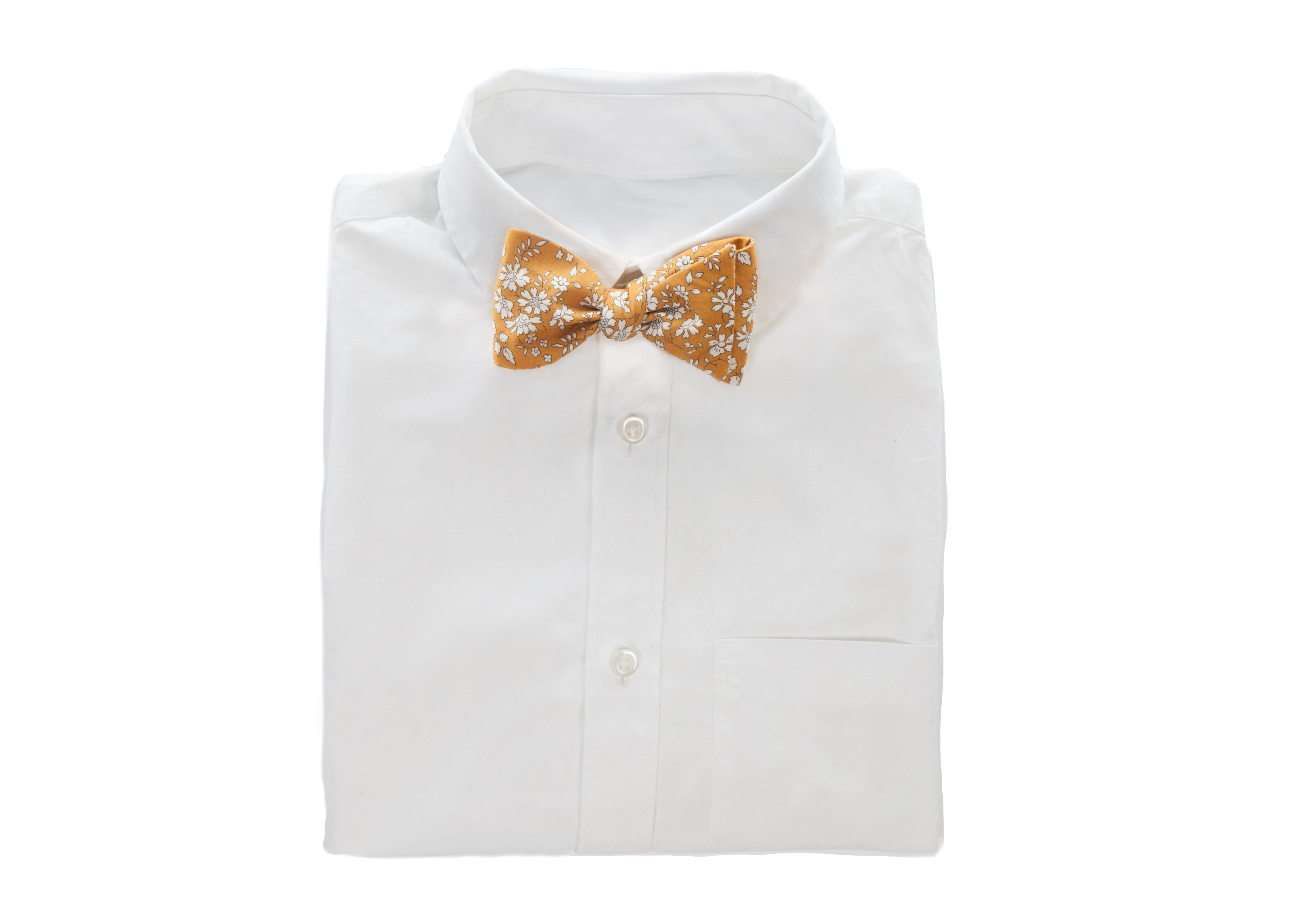 Liberty of London Mustard Lawn Bow Tie. Fabric From England.