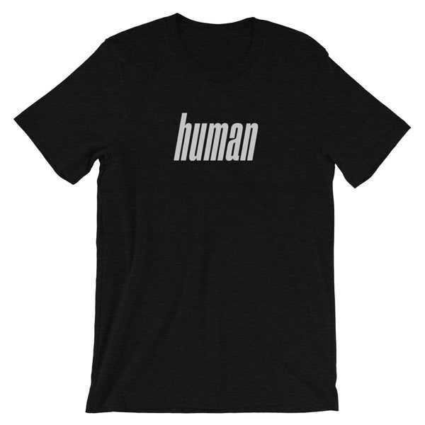 Retro Human T-Shirt (Black Heather)