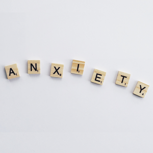 Anxiety scrabbled word